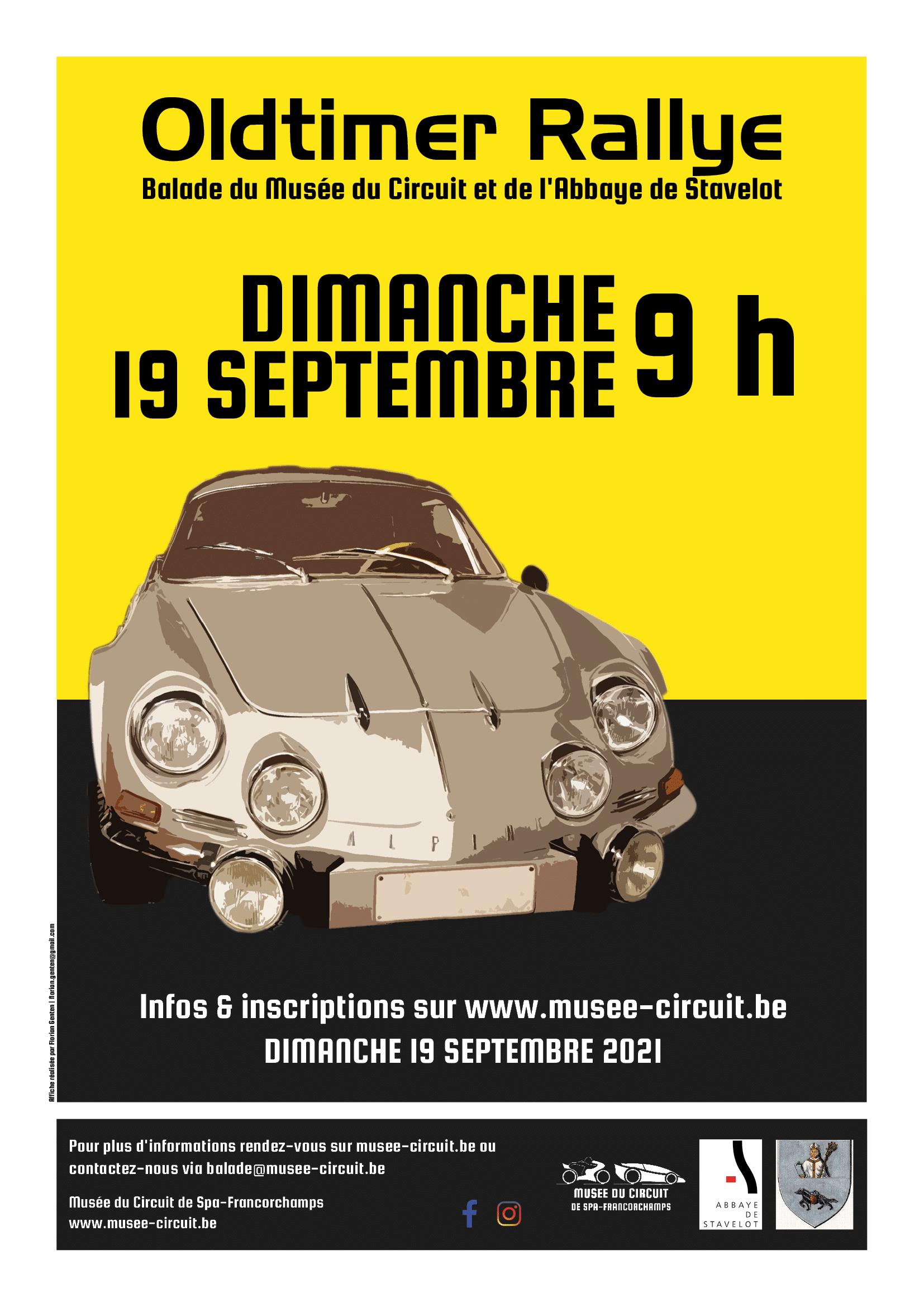 Affiche Balade Oldtimer Musée du Circuit